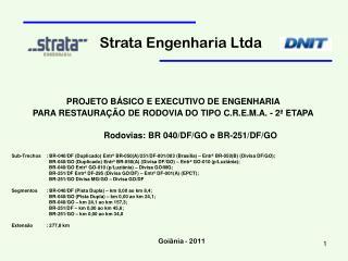 PROJETO BÁSICO E EXECUTIVO DE ENGENHARIA
