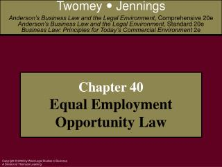 Chapter 40 Equal Employment Opportunity Law