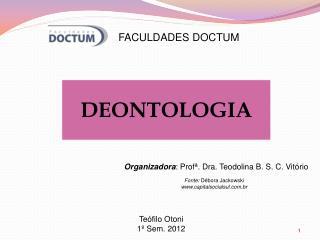 Organizadora : Profª. Dra. Teodolina B. S. C. Vitório