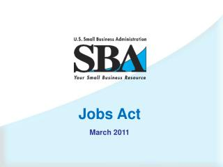 Jobs Act March 2011