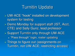 Turnitin  Update