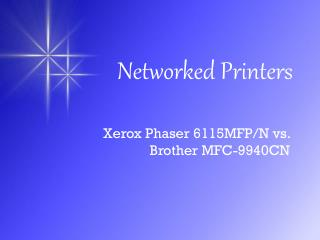 Networked Printers