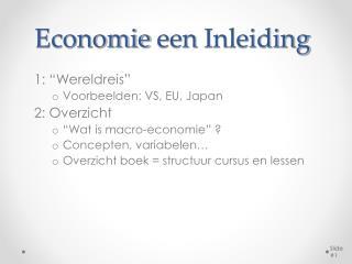 Economie een Inleiding