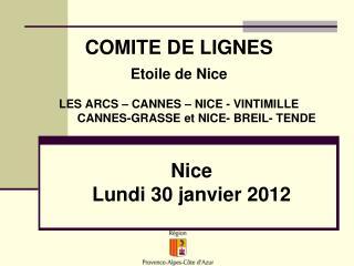 Nice Lundi 30 janvier 2012