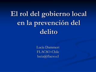 El rol del gobierno local en la prevención del delito