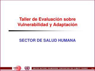 Taller de Evaluación sobre Vulnerabilidad y Adaptación
