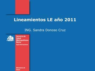 Lineamientos LE año 2011