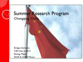 Summer Research Program