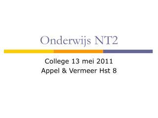 Onderwijs NT2