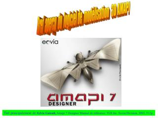 Bref  aperçu  du  logiciel de  modélisation  3D AMAPI