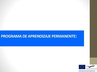 PROGRAMA DE APRENDIZAJE PERMANENTE :