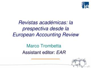 Revistas acad micas: la prespectiva desde la  European Accounting Review