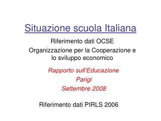 Situazione scuola Italiana
