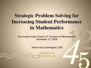 Strategic Problem Solving for Increasing Student Performance in Mathematics