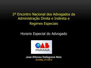 2� Encontro Nacional dos Advogados da Administra��o Direta e Indireta e  Regimes Especiais