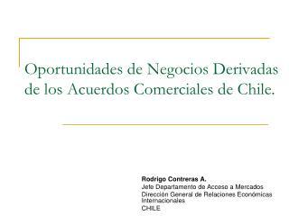 Oportunidades de Negocios Derivadas de los Acuerdos Comerciales de Chile.