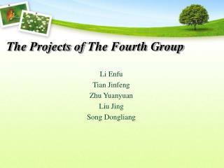 The Projects of The Fourth Group