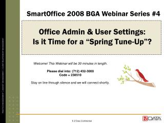 "Office Admin & User Settings:  Is it Time for a ""Spring Tune-Up""?"