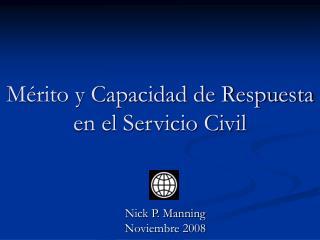 Mérito y Capacidad de Respuesta en el Servicio Civil