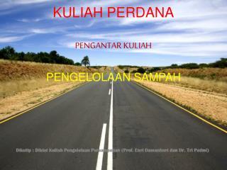KULIAH PERDANA