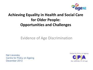 Achieving Equality in Health and Social Care for Older People: Opportunities and Challenges
