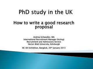 PhD study in the UK