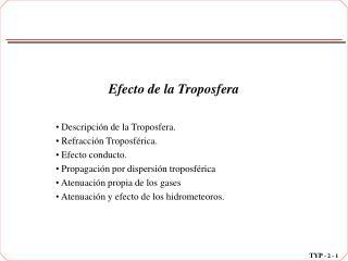 Efecto de la Troposfera