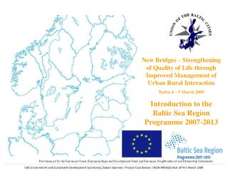 The Baltic Sea Region Programme 2007-2013
