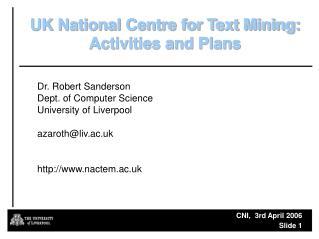 CNI,  3rd April 2006   Slide  1