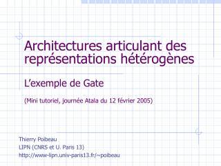 Thierry Poibeau LIPN (CNRS et U. Paris 13) www-lipn.univ-paris13.fr/~poibeau