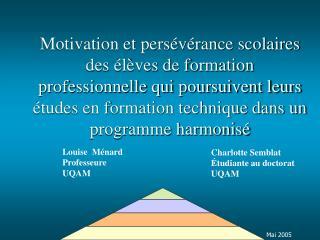 Louise  Ménard Professeure UQAM