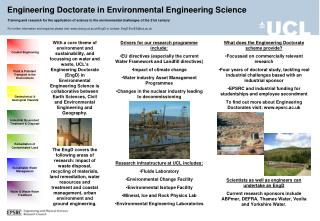 Engineering Doctorate in Environmental Engineering Science