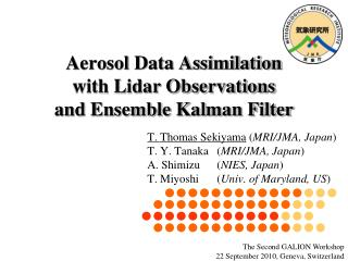 Aerosol Data Assimilation  with Lidar Observations  and Ensemble Kalman Filter