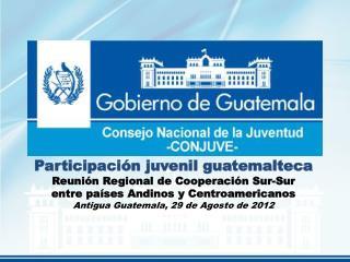 Participación juvenil guatemalteca Reunión Regional de Cooperación Sur-Sur