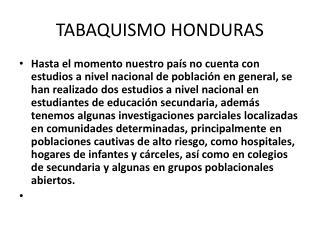 TABAQUISMO HONDURAS