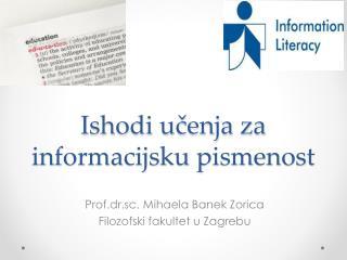 Ishodi učenja za informacijsku pismenost