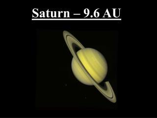 Saturn – 9.6 AU