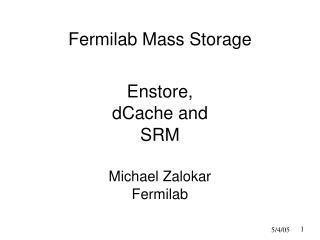 Fermilab Mass Storage