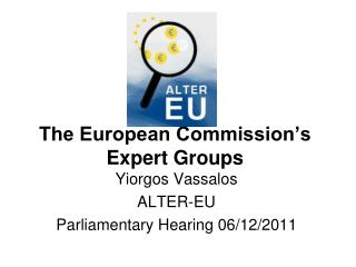 The European Commission's Expert Groups