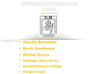 UNIVERSIDAD DE MANAGUA U de  M