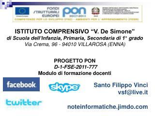 """ISTITUTO COMPRENSIVO """"V. De Simone"""" di Scuola dell'Infanzia, Primaria, Secondaria di 1°  grado"""