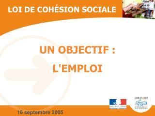 LOI DE COHÉSION SOCIALE