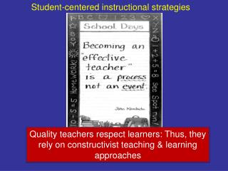 Student-centered instructional strategies