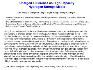 Charged Fullerenes as High-Capacity  Hydrogen Storage Media
