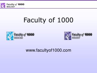 Faculty of 1000