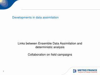 Developments in data assimilation