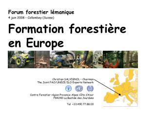 Formation forestière en Europe