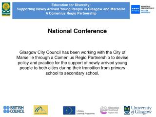 Education for Diversity:   Supporting Newly Arrived Young People in Glasgow and Marseille