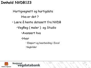Innhold NVDB123