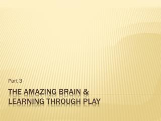 the amazing brain & learning through play